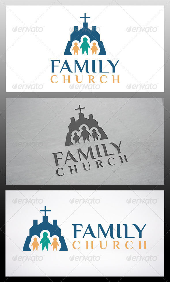 GraphicRiver Church Family Logo Template 6120175