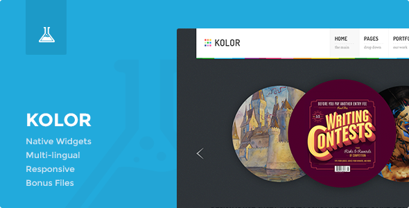 Kolor: Responsive Business and Portfolio Theme - Blog / Magazine WordPress