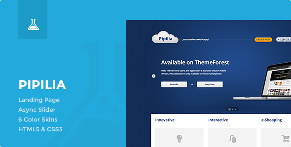 Pipilia Landing Page - Business Corporate