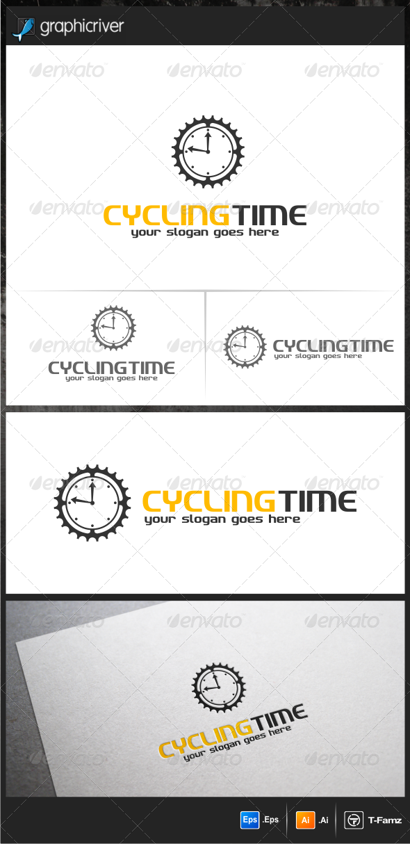 GraphicRiver Cycling Time Logo Templates 6120368