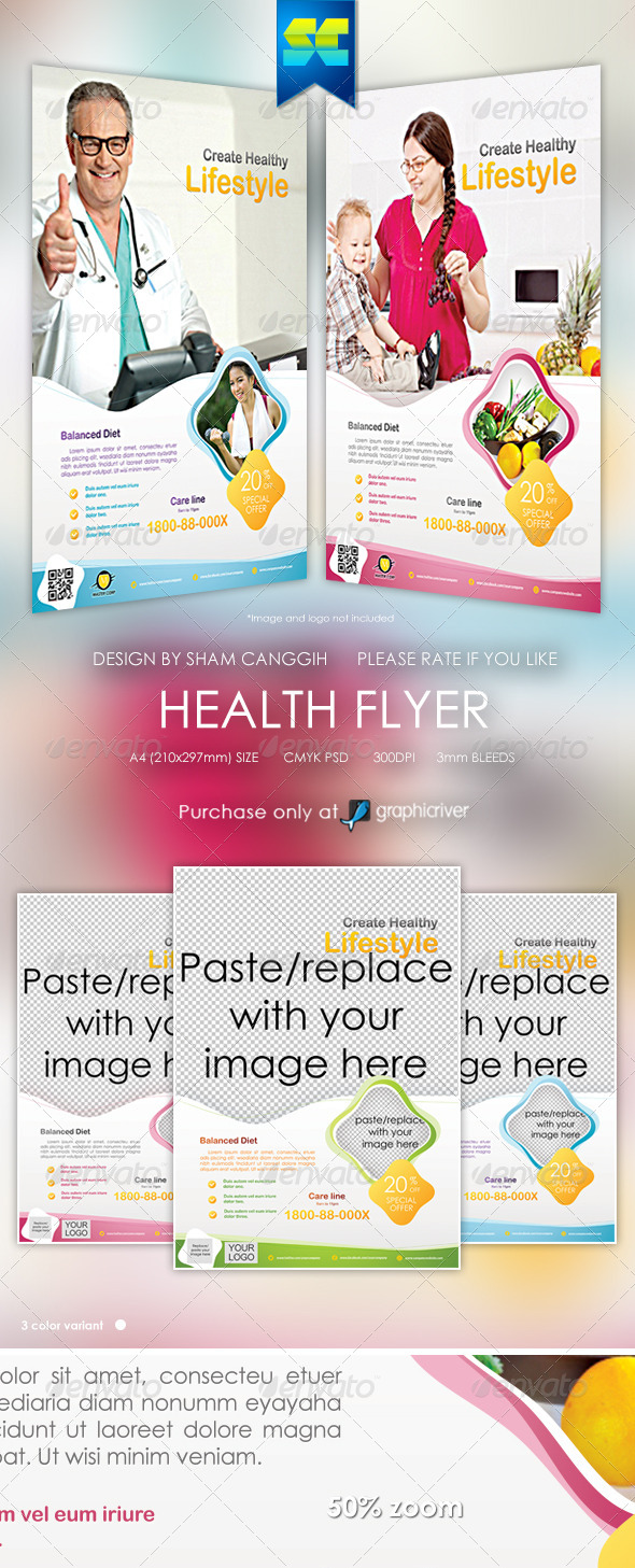 GraphicRiver Health & Beauty Flyer Magazine Ads 6120892