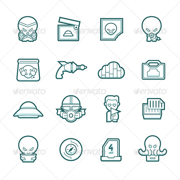 GraphicRiver Science Fiction Icons Set 6120906