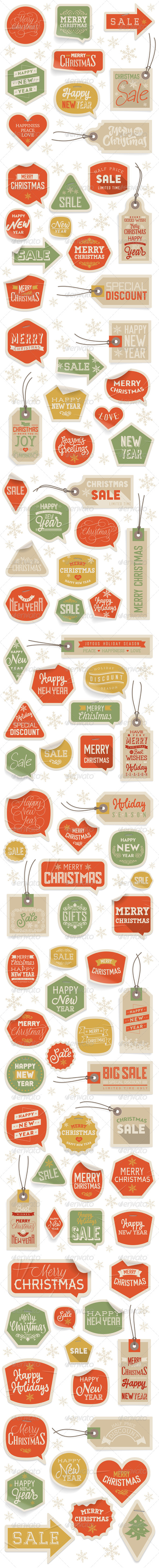 GraphicRiver Stickers and Labels for Christmas and New Year 6121317