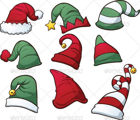 GraphicRiver Christmas Hats 6122400