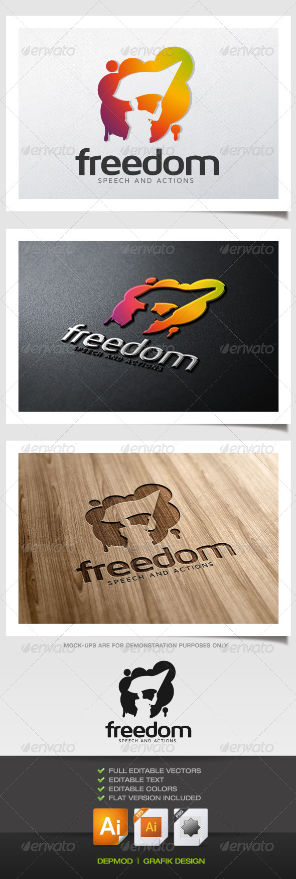 Freedom Logo - Humans Logo Templates