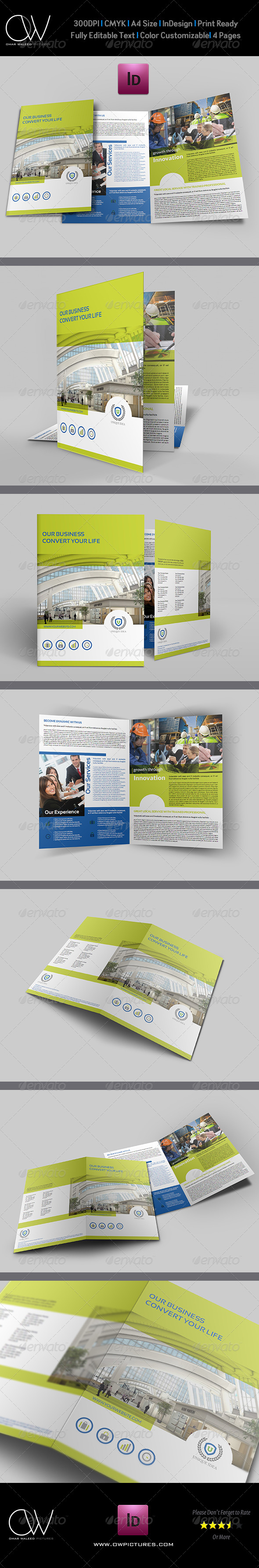 GraphicRiver Company Brochure Bi-Fold Template 6123279