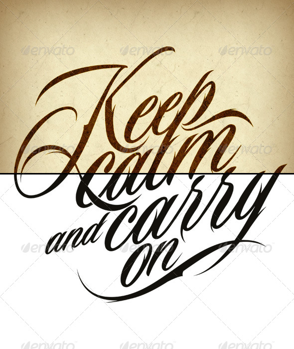 GraphicRiver Tattoo Keep Calm and Carry On 6123560