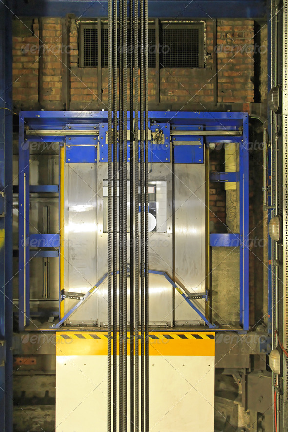 Lift shaft - Stock Photo - Images