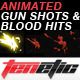 Gun Shots &amp;amp; Blood Hits - Anime Action Essentials - VideoHive Item for Sale