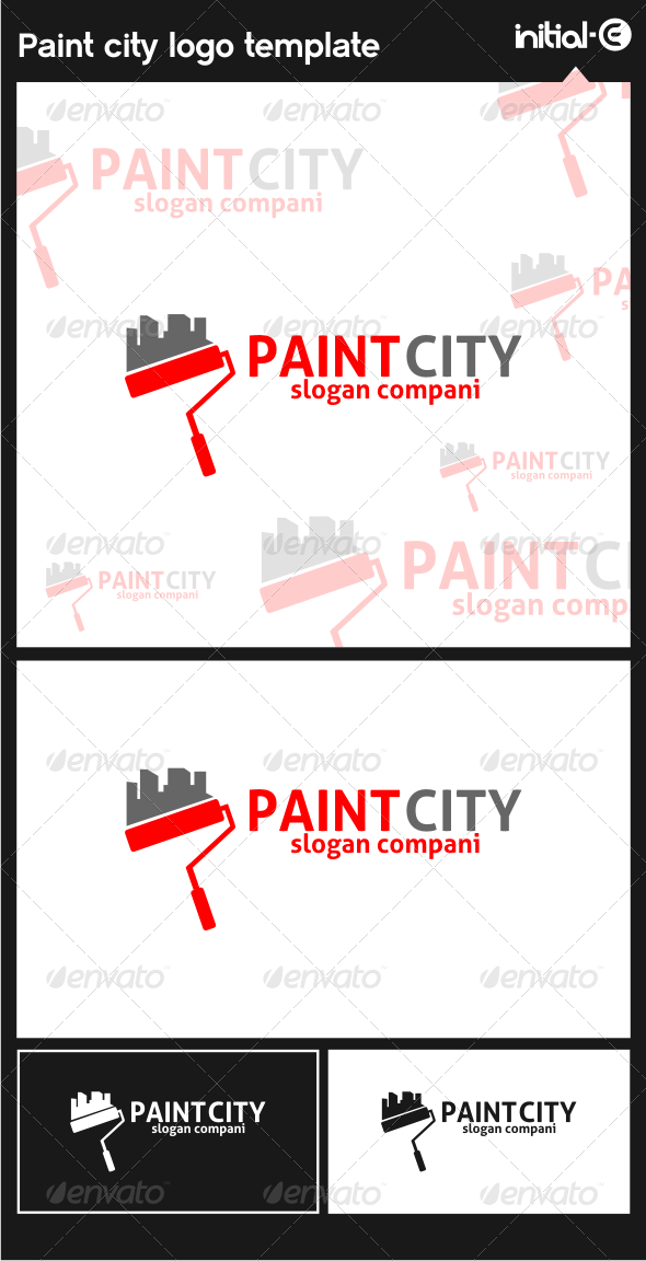 GraphicRiver Paint City Logo Template 6126618