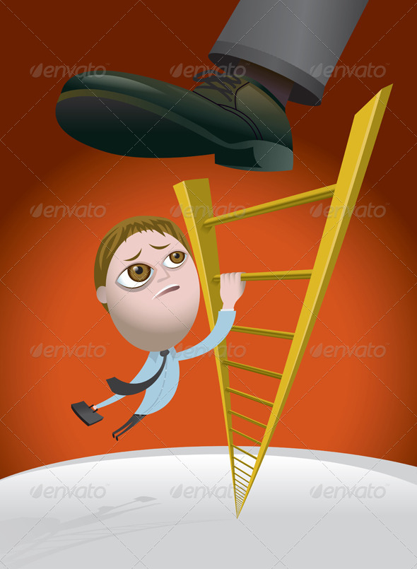 GraphicRiver Challenges of Climbing the Corporate Ladder 6126677