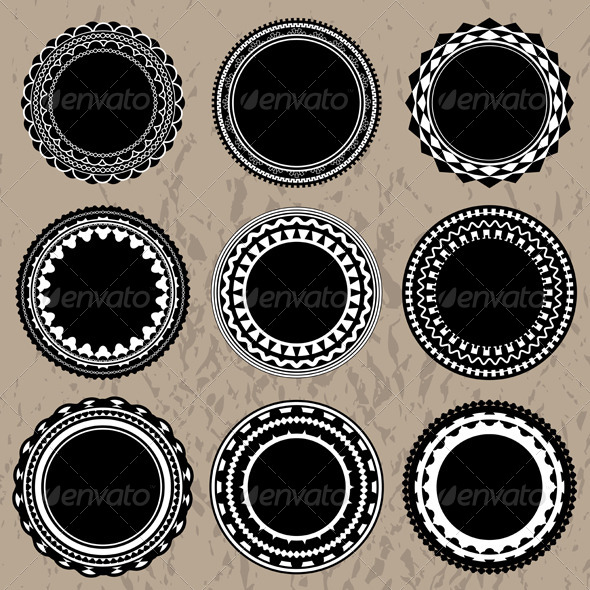 GraphicRiver Vector Ornate Vintage Badges and Labels 6126934