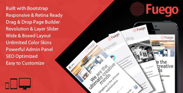Fuego - Retina Responsive Multi-Purpose WP Theme - Business Corporate