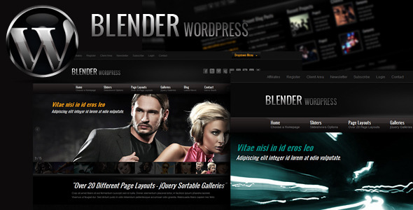 Blender WordPress Portfolio Theme - ThemeForest Item for Sale