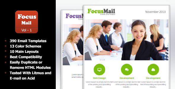 ThemeForest FocusMail Multipurpose Email Template 6118311