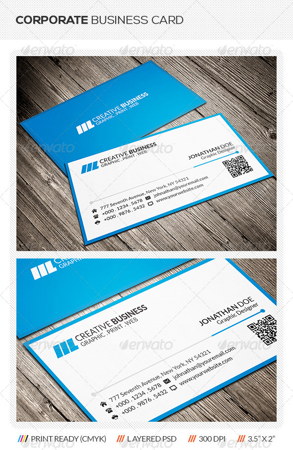 GraphicRiver Clean Corporate Business Card 6127585