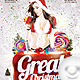 Flyer Great Party Christmas - GraphicRiver Item for Sale