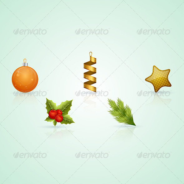 GraphicRiver Christmas Icons 6132466