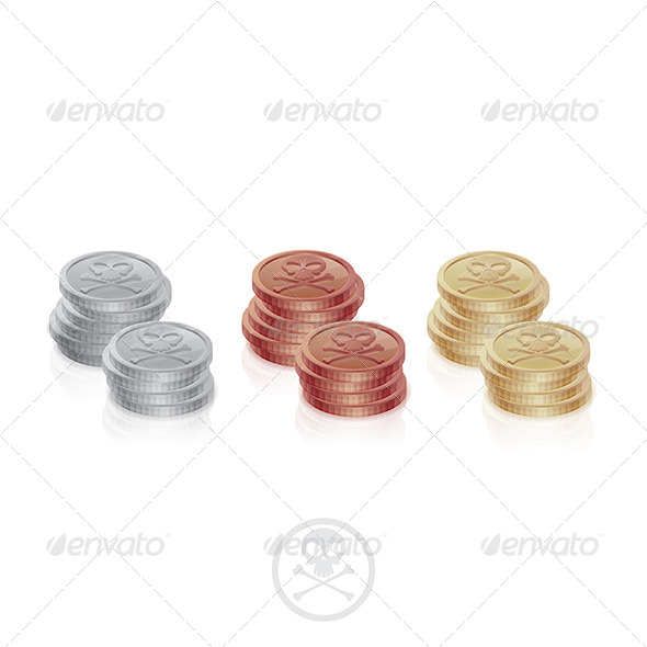 GraphicRiver Pirate Coins Two Columns 6132469