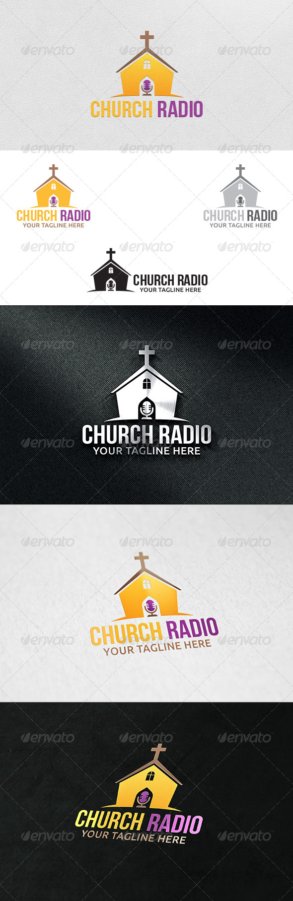 GraphicRiver Church Radio Logo Template 6132478