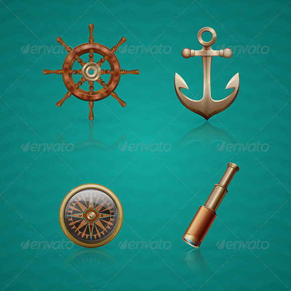 GraphicRiver Icons Sea 6132560