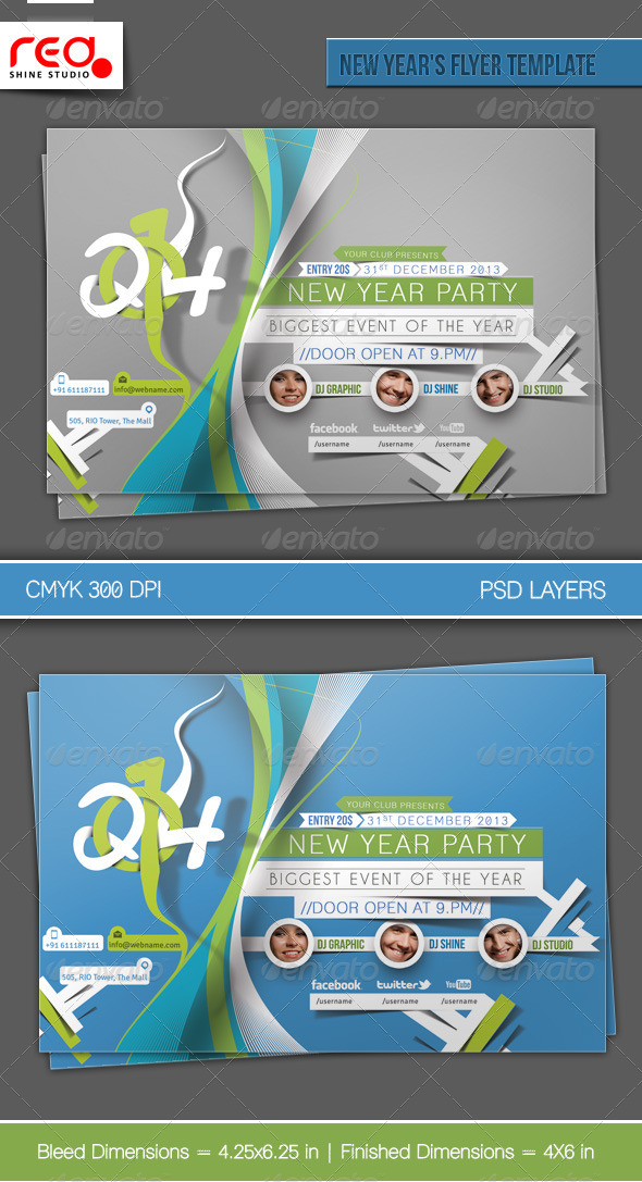 GraphicRiver New Year s Party Flyer & Poster Template 3 6132575