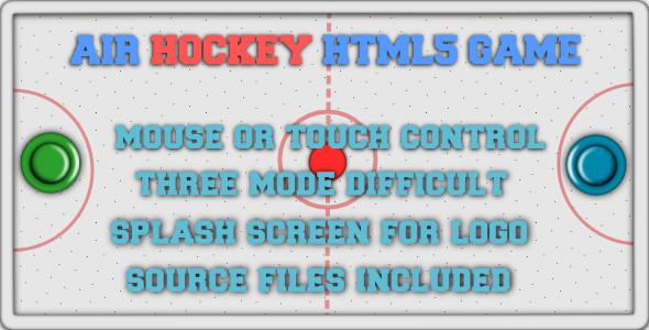 CodeCanyon Air Hockey HTML5 game 6132652