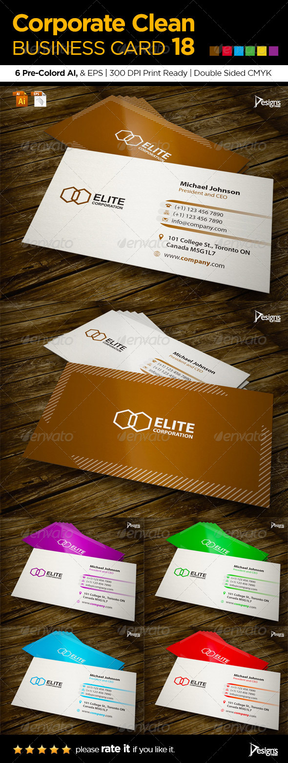 GraphicRiver Corporate Clean Business Card 18 6132693