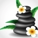 Spa Stones with Frangipani Flower. - GraphicRiver Item for Sale