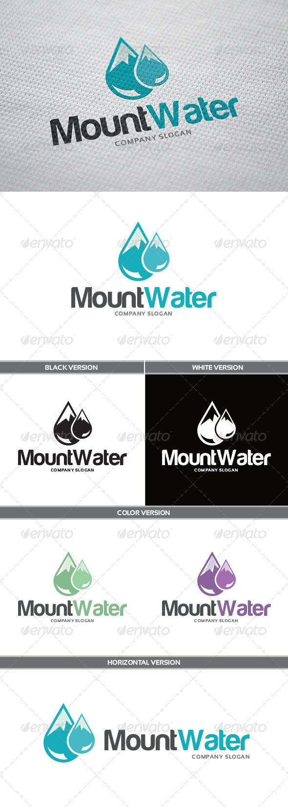 GraphicRiver MountWater Logo 6132992