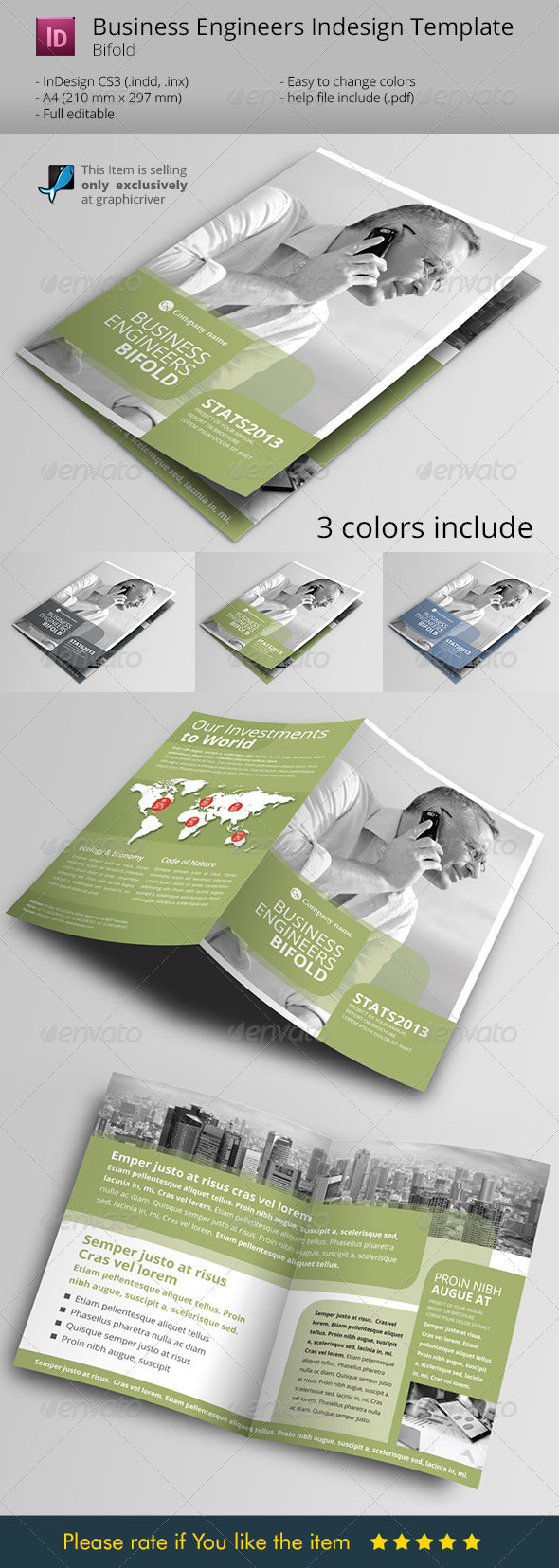 Green Light to Business Indesign Template - Corporate Brochures