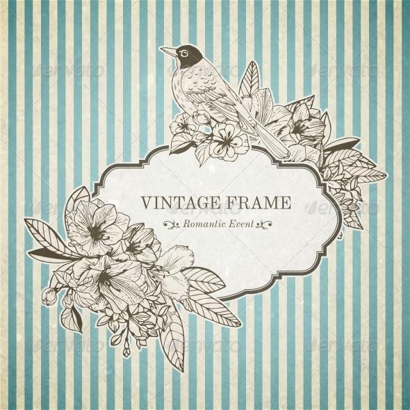 GraphicRiver Romantic Vintage Card 6133392