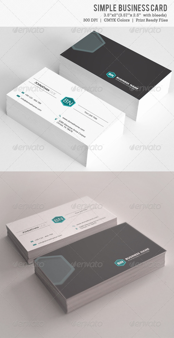 GraphicRiver Simple Business Card Vol-03 6094435
