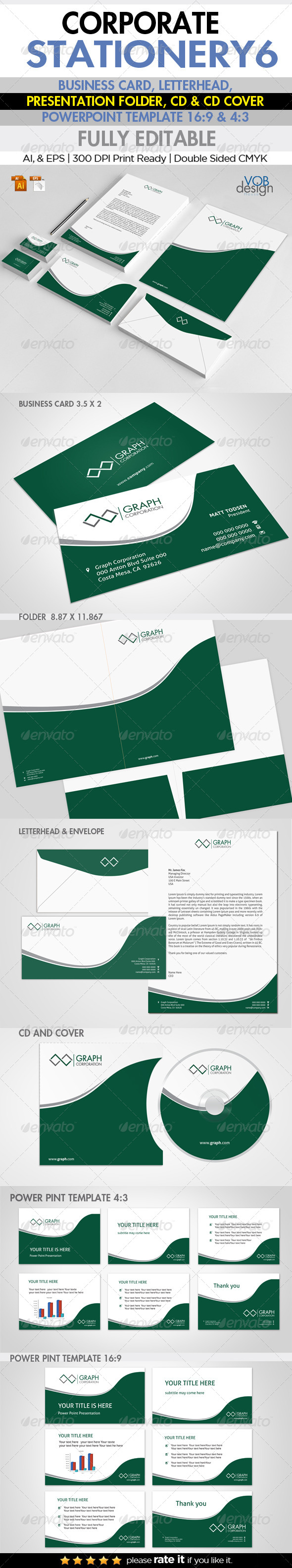 GraphicRiver Corporate Stationery 6 6134297