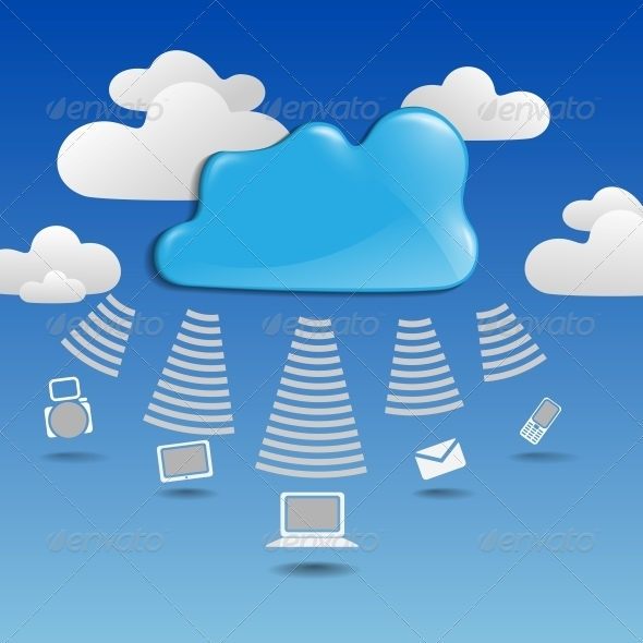 GraphicRiver Cloud Computing Concept 6134385