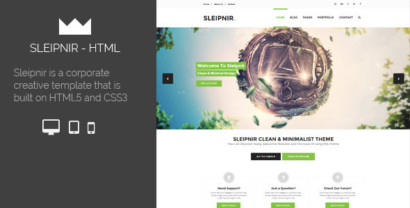 ThemeForest Sleipnir HTML Template 6134740