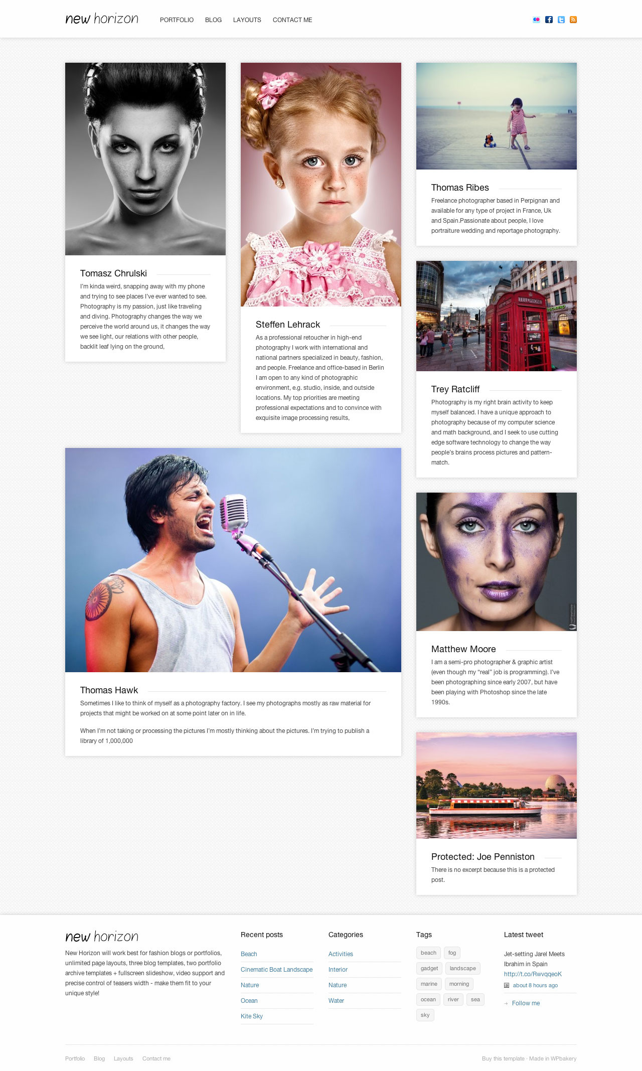 New Horizon - Blog &amp; Portfolio WordPress Theme