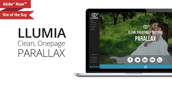 LLUMIA | Muse Wedding Template - Creative Muse Templates