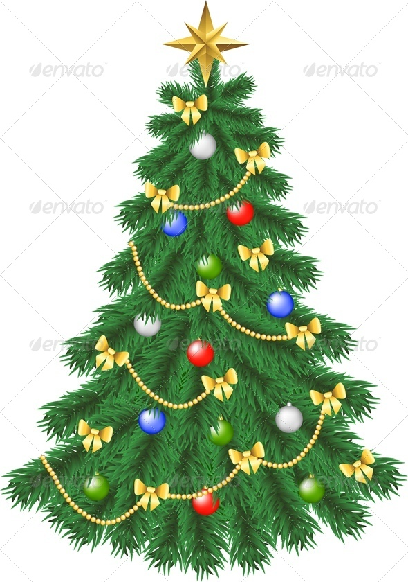 GraphicRiver Spruce Christmas Tree 6135207