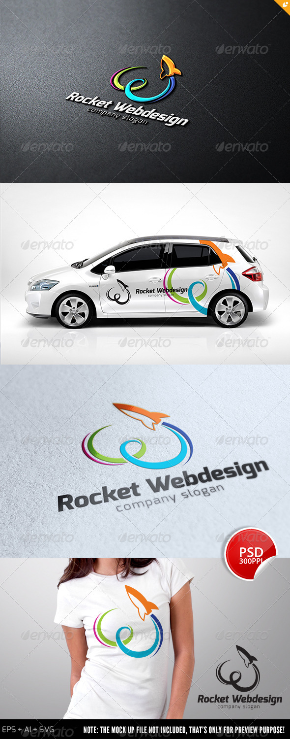 Rocket Web Design Logo - Letters Logo Templates