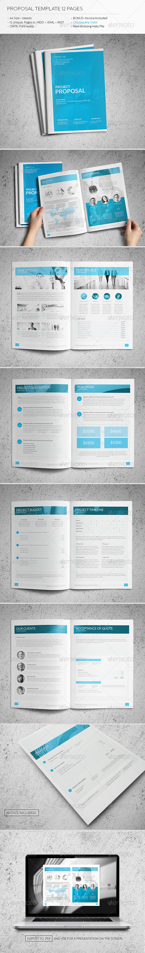 GraphicRiver Proposal Template 12 Pages 6135610