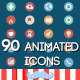 90 Animated Icons - VideoHive Item for Sale