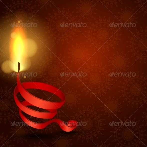 GraphicRiver Happy Diwali Background 6137002