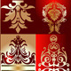 Red Gold Various Elements Ornament - GraphicRiver Item for Sale