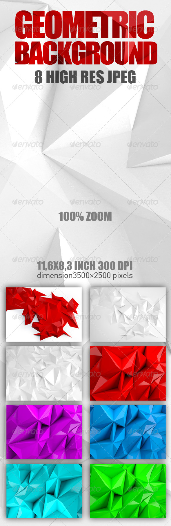 GraphicRiver Abstract geometric polygon background 6137556