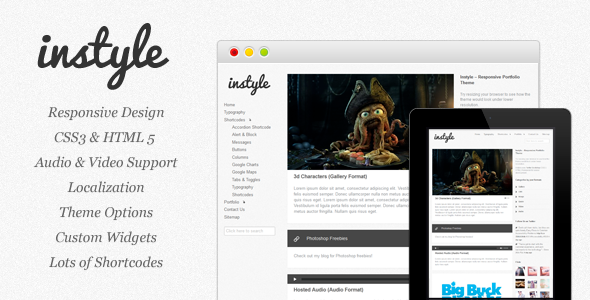 Instyle - Responsive Portfolio Theme