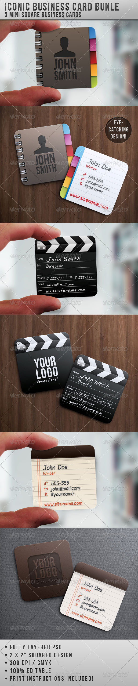 Iconic Business Card Bundle - Creative Business Cards
