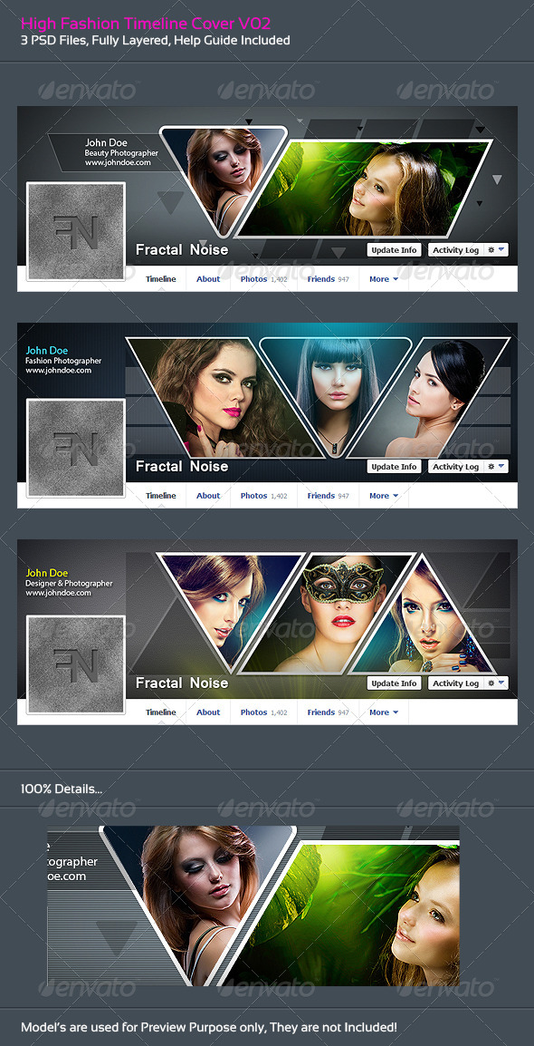 GraphicRiver High Fashion Timeline Covers V02 6138213