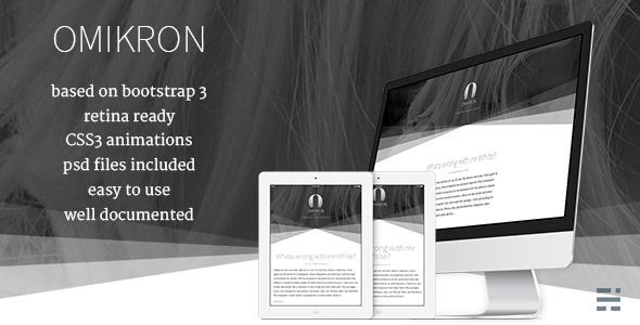 ThemeForest Omikron Minimal Responsive Bootstrap Ghost theme 6138330