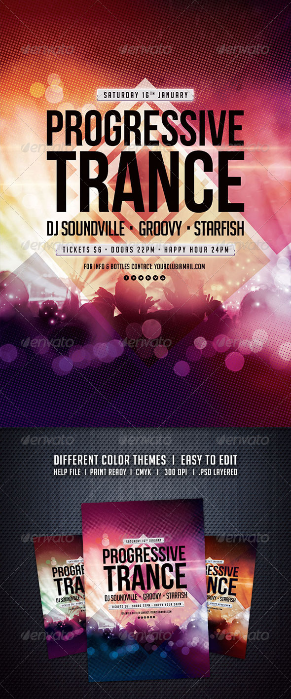 GraphicRiver Progressive Trance Flyer 6138369